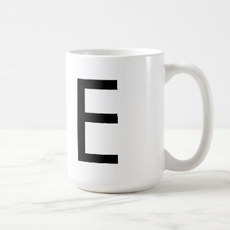 "Futura Font Typography ""E"" Mug"