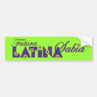 Futura Latina Sabia Bumper Sticker