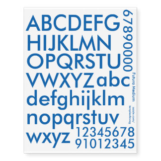 Futura Medium Blue Text