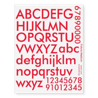 Futura Medium Red Text