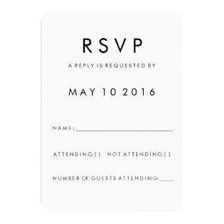 Futura Modern RSVP Card 9 Cm X 13 Cm Invitation Card