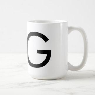 "Futura Typography ""G"" Mug"
