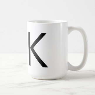 "Futura Typography ""K"" Mug"