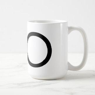 """Futura Typography """"O"""" Mug"""