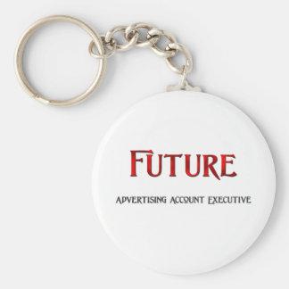 Future Advertising Account Executive Basic Round Button Key Ring