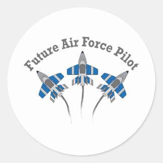 Future Air Force Pilot Classic Round Sticker