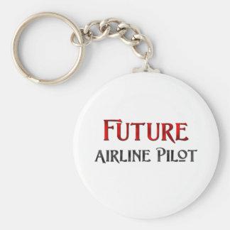 Future Airline Pilot Keychain
