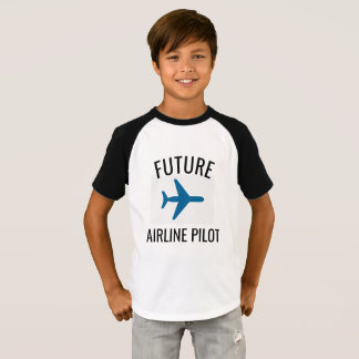 Future Airline Pilot Kids Tshirt