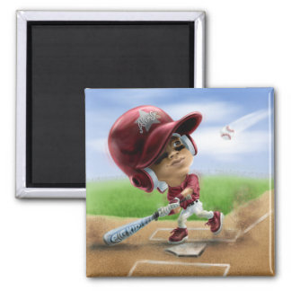 Future All-Star Baseball Red Square Magnet