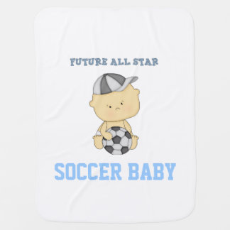 Future All Star Soccer Baby Blanket - Blue