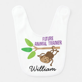 Future Animal Trainer Personalized Baby Bib