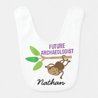Future Archaeologist Personalised Baby Bib