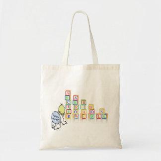 future archer baby w/ blocks budget tote bag