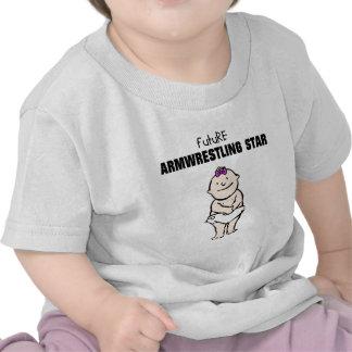 Future Armwrestling Star Girl T Shirt