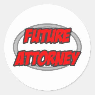 Future Attorney Round Stickers