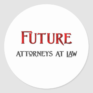 Future Attorneys At Law Round Sticker