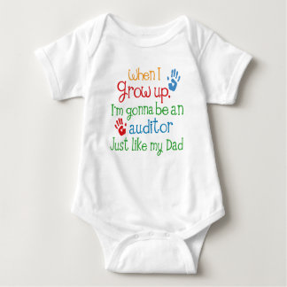 Future Auditor Just Like My Dad Baby Outfit Baby Bodysuit