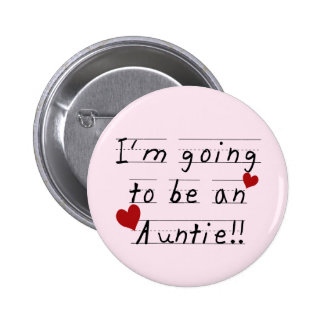 Future Auntie Kid Print Tshirts and Gifts 6 Cm Round Badge