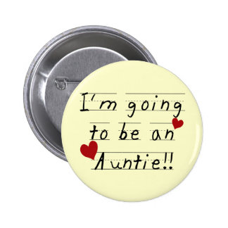 Future Auntie Kid Print Tshirts and Gifts Button