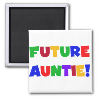 Future Auntie-Primary Colors Tshirts and Gifts Refrigerator Magnets