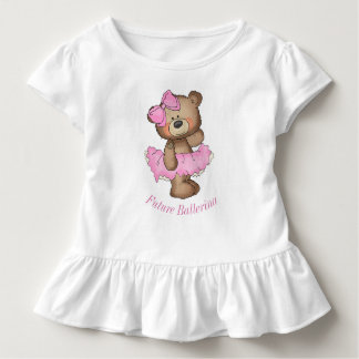 Future Ballerina Bear Toddler Ruffle Tee