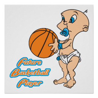 future basketball player baby boy poster