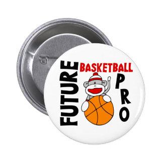 Future Basketball Pro Sock Monkey 6 Cm Round Badge