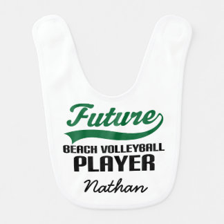 Future Beach Volleyball Player Baby Bib