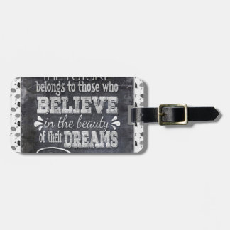 Future Belong, Believe in the Beauty Dreams, Black Luggage Tag