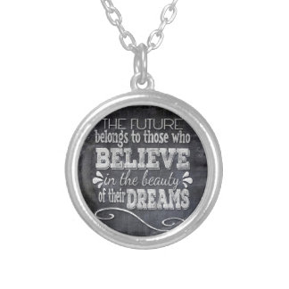 Future Belong, Believe in the Beauty Dreams, Black Silver Plated Necklace