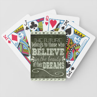Future Belong, Believe in the Beauty Dreams, Green Bicycle Playing Cards