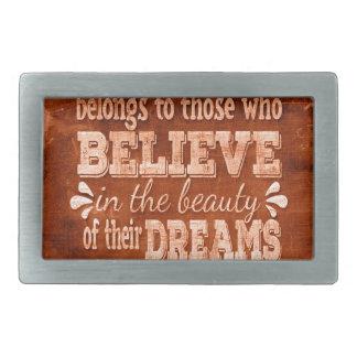 Future Belong, Believe in the Beauty Dreams, Orang Rectangular Belt Buckles