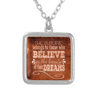 Future Belong, Believe in the Beauty Dreams, Orang Silver Plated Necklace