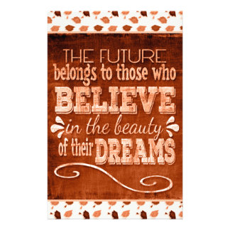 Future Belong, Believe in the Beauty Dreams, Orang Stationery