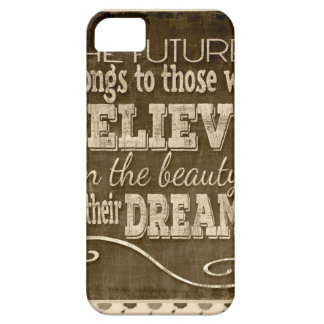 Future Belong, Believe in the Beauty Dreams, Sepia iPhone 5 Cover