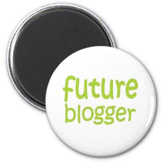 future blogger 6 cm round magnet