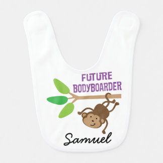 Future Bodyboarder Personalized Baby Bib