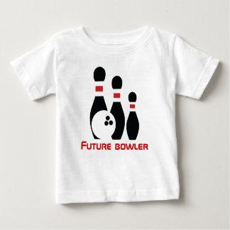 Future bowler, bowling ball and pins tees