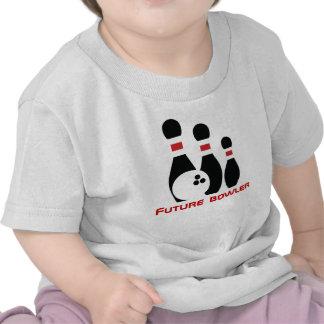Future bowler, bowling ball and pins tee shirt