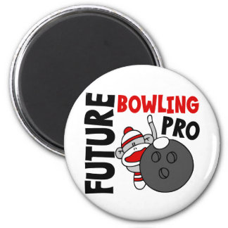Future Bowling Pro Sock Monkey Fridge Magnets