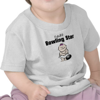 Future Bowling Star Baby Girl T-shirts