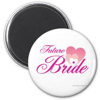 Future Bride 1 hearts.jpg 6 Cm Round Magnet
