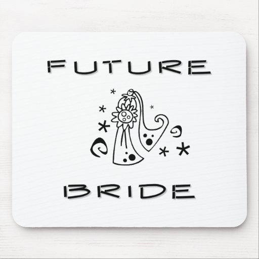 Future Bride in Gown Mouse Mat