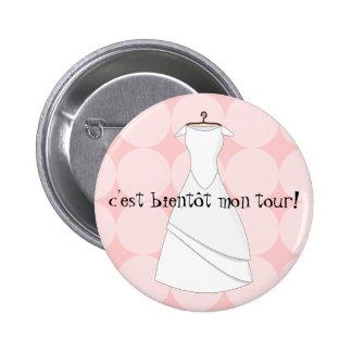 future bride it swipes in is soon my turn 6 cm round badge