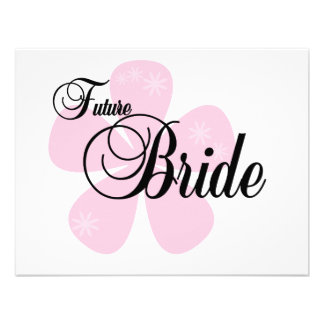 Future Bride Pink Flower Tshirts and Gifts Personalized Invite