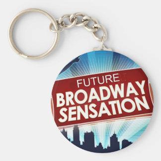 Future Broadway Sensation Basic Round Button Key Ring
