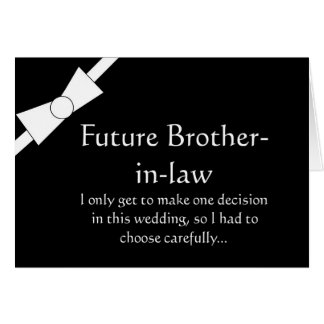 Future Brother in Law Best Man Request Invitation Greeting Card