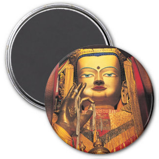 "Future Buddah magnet 3"" round"