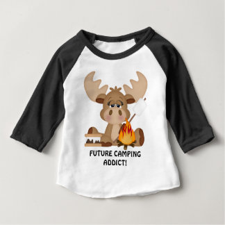 Future camping addict baby boy t-shirt