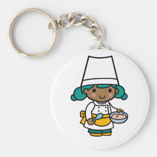 Future Chef / Baker / Pâtissier Basic Round Button Key Ring